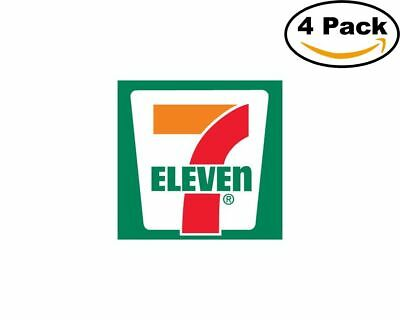 7 eleven logo 4 Stickers 4x4 Inches Sticker Decal