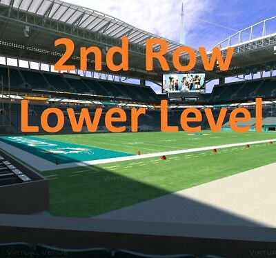 2 Philadelphia Eagles at Miami Dolphins 2019 NFL Football Tickets Lower Level