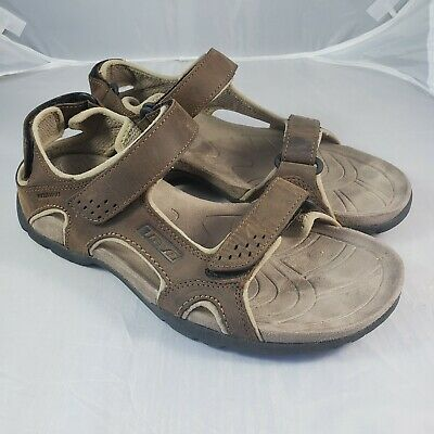 8a5839977b61 Teva 6101 Fossil Canyon Sandal Brown Waterproof Hiking Athletic Mens 10