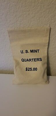 Lot of (100) Circulated Washington 25¢ Quarters, 90% Silver Coins, $25 face