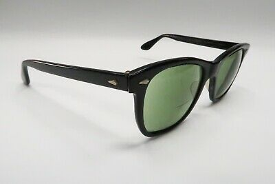 Vtg American Optical Saratoga CN 25-51 JFK Rx Sunglasses Frames Black A458