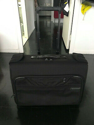 Briggs & Riley Black Baseline Carry-On Wheeled Garment Bag Small Style #U174-4