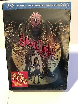 Sucker Punch Limited Edition SDCC 2011 4 DISC BLURAY STEELBOOK + CD NEW/SEALED!