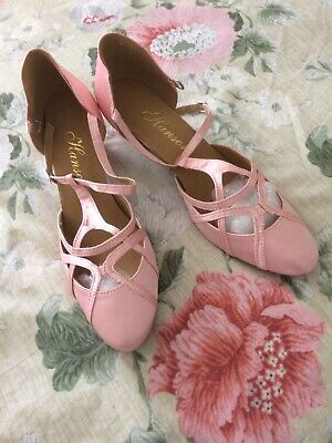Hanson  Size 43 Dancing Shoe Pink With Small Heel New