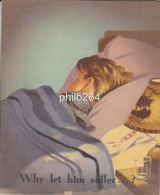 Early 1960's Philips Infraphil infra red lamp promotional brochure catalogue