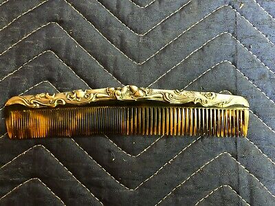 Antique Sterling Silver Vanity Hair Comb