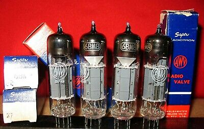 6BM8 MATCHED QUAD (4pcs) NOS Radiotron brand