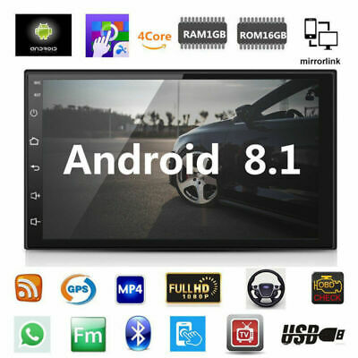 """Android 8.1 Car Stereo GPS Navigation Radio Player Double Din WIFI 7"""""""