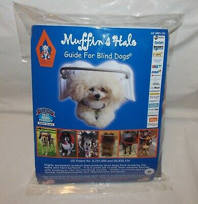 Muffin's Halo Guide for Blind Dogs Gray Angel Wings Size Medium