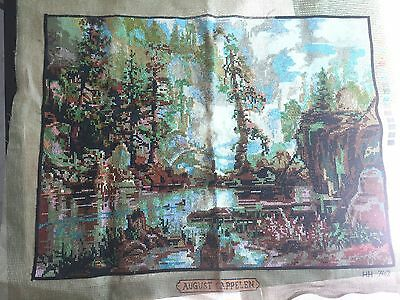 Landscape Tapestry - August Cappelen - Almost completed in cross stitch