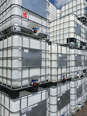 IBC Water Tank 1000 Litre Liquid Storage Container. These r reconditioned tanks