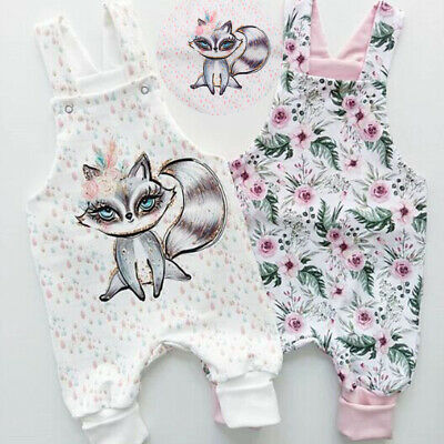 UK Newborn Toddler Baby Girl Fox Floral Bodysuit Romper Jumpsuit Outfit Clothes