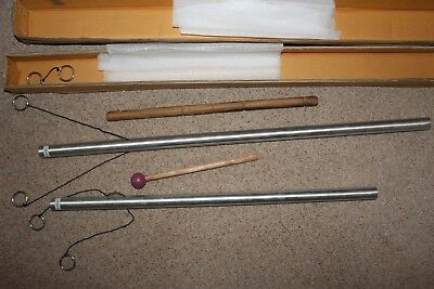 Two hand held Chimes C 256 hz and G 384 hz for use in sound therapy (un-used)