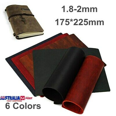Vintage 1.8-2mm Thick Hide Cowhide Leather Wallet Bag Notebook DIY Craft 17x22cm