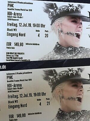 2x Pink Tickets  -  Hannover Fr. 12.7.2019  -  HDI Arena