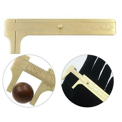 MINI SOLID BRASS POCKET CALIPER GAUGE MEASURING DIY TOOL 100mm  New