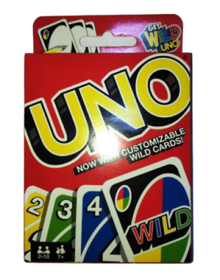 UNO Card Game With Family Party Fun Latest Version Customisable Wild Cards Y3365