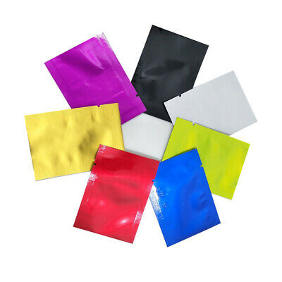 Flat Colorful Pure Aluminum Foil Bag Mylar Heat Sealed Vacuum Food Grade Storage