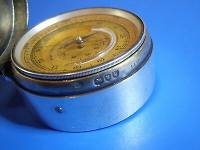 E.h.stockwell 1891 Hallmarked Silver Pocket Barometer Triple Compendium -Working