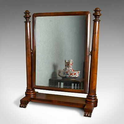 Large Antique Vanity Mirror, English, Regency, Toilet, Swing, Platform, c.1830