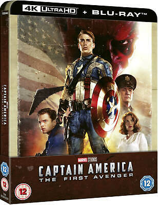 Captain America - Steelbook (4K + Blu-Ray) - Rara - Import - Marvel - Avengers