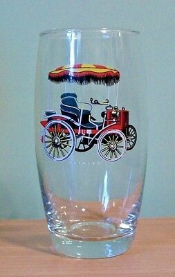 A Veteran Daimler Car In Colour Features On A Vintage Glass Large Tumbler  - New
