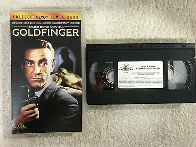 James Bond Contra Goldfinger Vhs Tape 007 Sean Connery