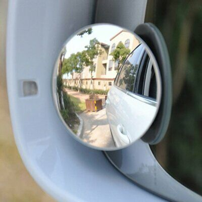 2x Car Rear Side view Blind Spot Convex Wide Angle Adjustable Rimless Mirror FA