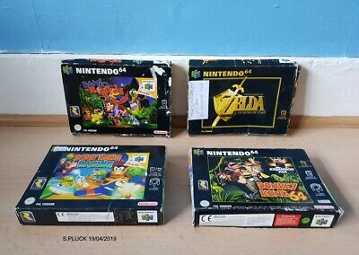 Zelda/DK 64/Diddy Kong Racing/Banjo Kazooie N64 Boxes & Manual Only No Games