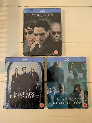 The Matrix Trilogy Blu Ray Steelbooks