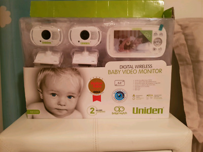"Uniden BW31xx 4.3"" Digital Wireless Baby Video Monitor 2 Two Cameras"