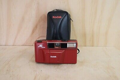 Kodak S Series Red Point and Shoot 35mm Film Camera