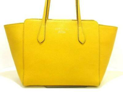 c598b1fd8ffd PREOWNED GUCCI TOTE Yellow Leather Purse, Good Condition, Beautiful ...