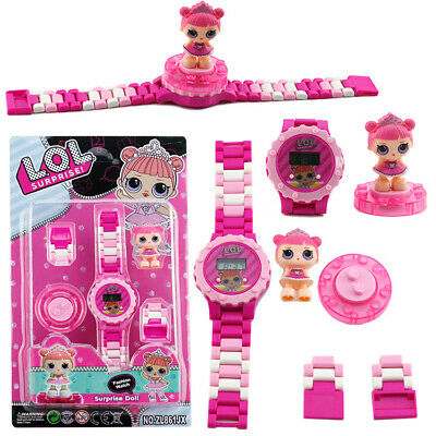 Surprise Doll Building Block Watches Assemble Rotating LOL Figure Girls Gift Toy