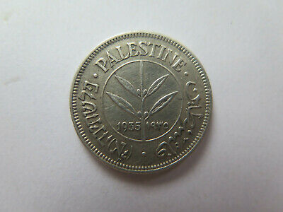 1935 Palestine Israel 50 Mils Silver Coin Excellent Collectable Condition