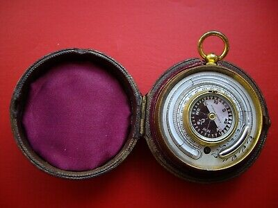 Miniature Double Sided Pocket Barometer Altimeter Thermometer Compass Compendium