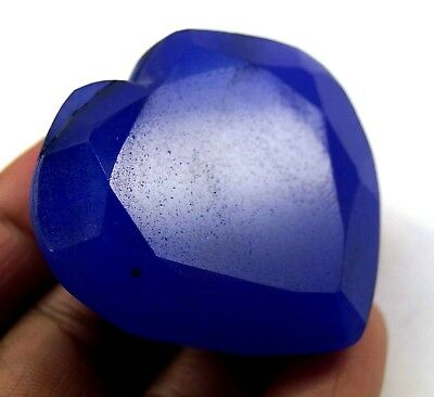 GGL Certified 305 Ct Natural Beautiful Heart Shape Blue Sapphire Gemstone