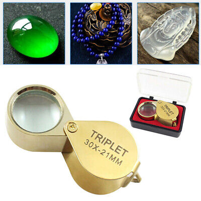 New Pocket Jewellers Loupe 30 x 21 mm Magnifying Eye Glass Jewelers Magnifier AU
