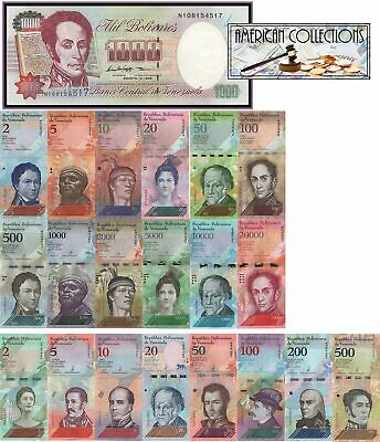 Venezuela (21) Pcs Super*Complete Set 2007-2018 1000 BS OLD SEE DESCRIPTION UNC(