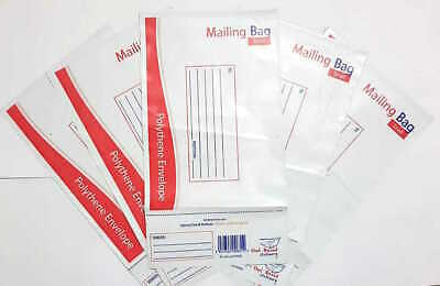 Premium Strong Postal Polythene Postage Bags White Plastic Mailing All Size New