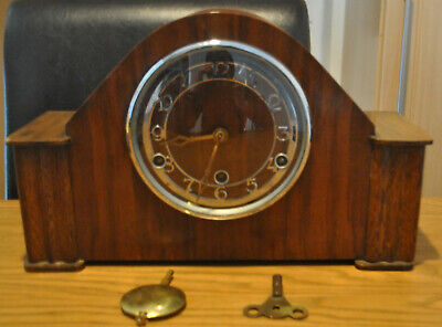 Westminister Chime English Mantle Clock Art Deco
