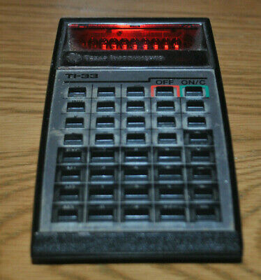 TI-33 Calculator Texas Instrument ** Full Working Order **  1970s