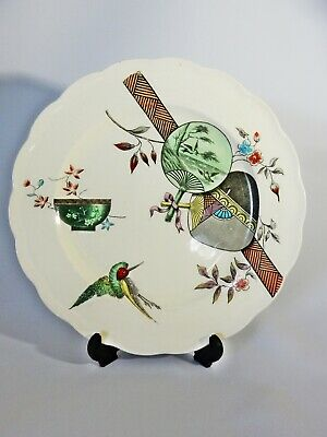 Antique Victorian 1880 Paragon PB&S Oriental Ivory Display Plate Dish Pottery