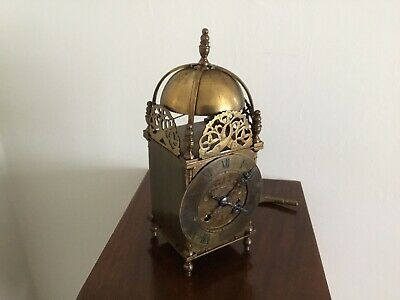 French Movement Brass Striking Lantern Mantel Clock Platform Escapement