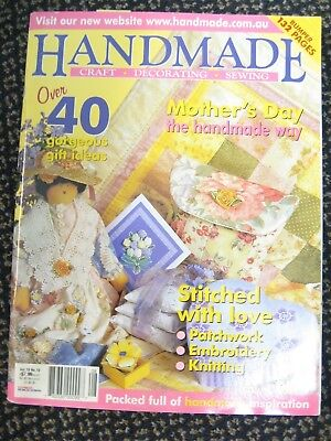 HANDMADE MAGAZINE Vol19 #10 OOP Mothers Day Doll Purse Knit Stitch Patchwork box