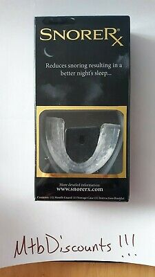 BRAND NEW! SNORE RX ANTI-SNORE Mouthpiece Custom Fit New in Pack