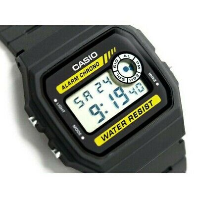 Casio F-94W Stopwatch Alarm Classic Black Watch - Seller refurbished