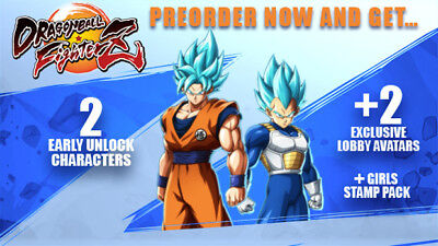 DragonBall FighterZ Code DLC 2 personnages + 2 Avatars PS4 Collector