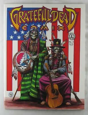 GRATEFUL DEAD COMIX #03 1991 Kitchen Sink Comics Jerry Garcia Dennis McNally