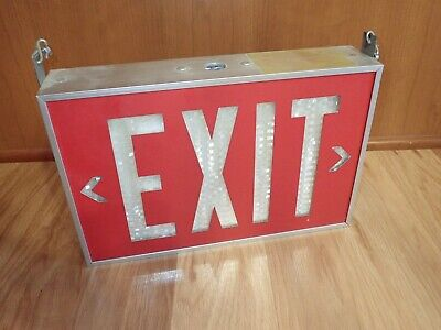 Isolite 2040 Self-Luminous Tritium Exit Sign 20-Year Double Sided - Man Cave!